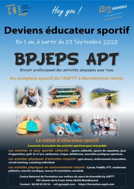 Formation BPJEPS APT 2020-2021